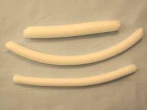 White backer rod in 3 sizes